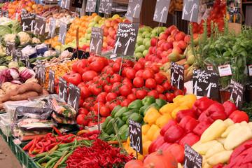 Organic market in Vienna