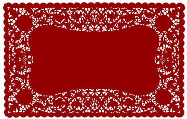 Lace Doily Placemat, Red