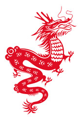 Dragon year 2012. Chinese zodiac symbol.