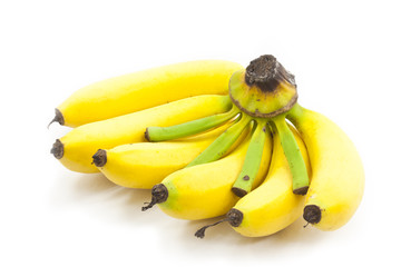 Fototapete - bunch of bananas isolated on white background
