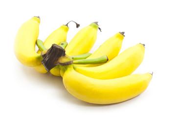 Fototapete - bananas on white background