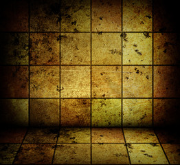 golden mosaic room