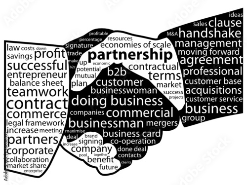 Tag cloud business card best business cards partnership tag cloud handshake business contract teamwork reheart Images