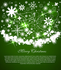 Christmas background with light snow and place for your text