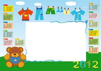 calendario base maschietto 2012 orizzontale