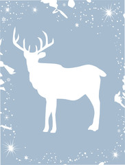 vector reindeer card