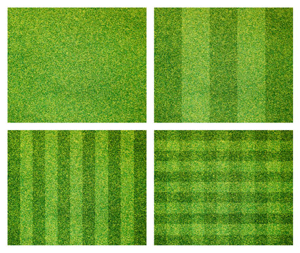 set of green grass background