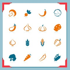 Vegetables icons | In a frame series
