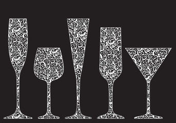 Collection of New Year's glasses