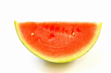 Watermelon slice isolated.