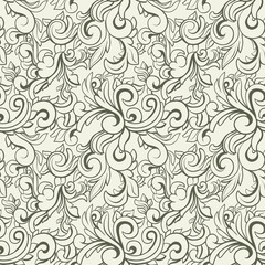 Abstract seamless background with floral elements