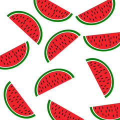 Background: slices of watermelon