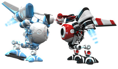 Robot Standoff Blue and Red