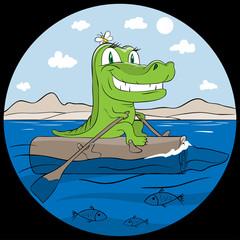 travelling crocodile