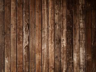 Dark brown plank wood wall