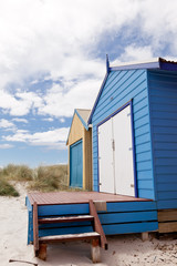Colourful beach house