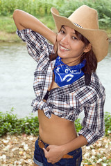 sexy woman with cowboy hat ..