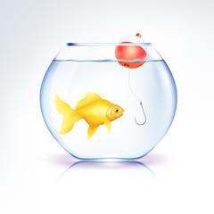 Conceptual Fish in danger