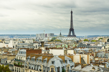 eiffel tower and roofs