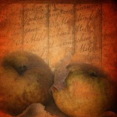 Zwei Äpfel in der Küche