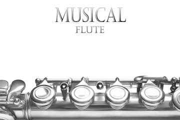 Flute musical instrument background