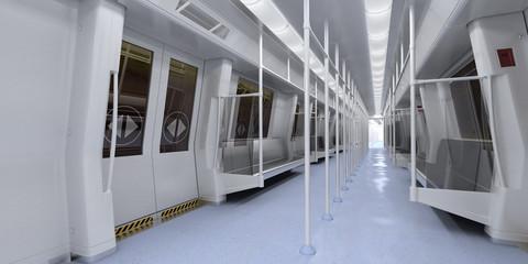 interno metropolitana vuota 3d vagoni