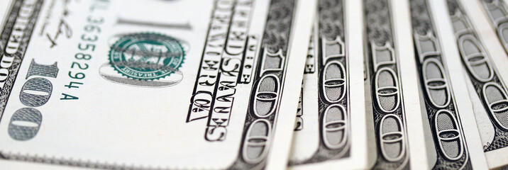 American dollars closeup