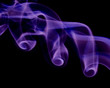 purple smoke twirling
