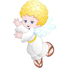 Angelo Angioletto Bambino-Baby Angel Cartoon-Vector