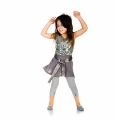 Cute little girl dance