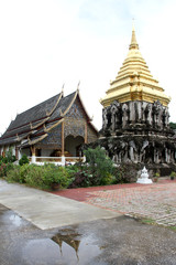 Golden stupa and temple