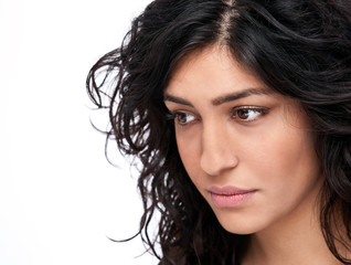 Closeup of a modern iranian woman