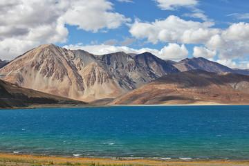 Tso Moriri lake, Ladakh, India at  4,595 m /15,075 ft