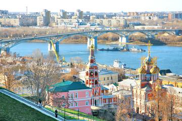 View of Stroganov Church in Nizhny Novgorod in Russia