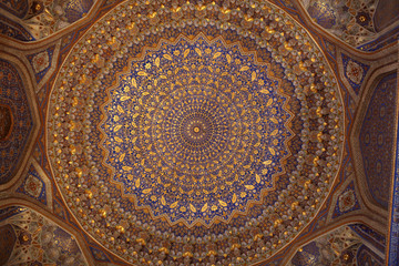 Ceiling of Tilya Kori Madrasah