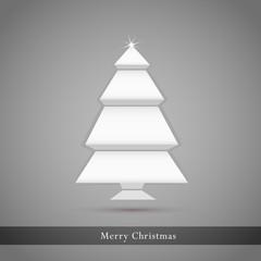 Vector christmas tree - origami