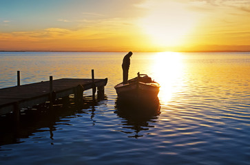 Fotorolgordijn Pier me voy con el sol