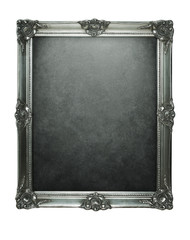 Vintage silver frame with clipping paths