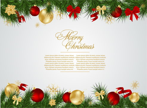 detailed realistic  christmas frame