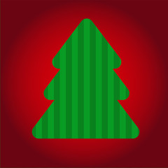 Colorful illustration with Christmas tree. vector.
