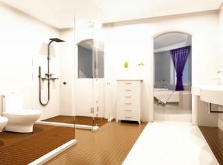bagno lavandino sanitari interior rendering 3d
