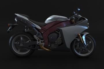 Sport motorbike prototipe on dark background
