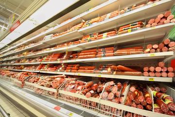 Sausage in shop