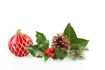 Seasonal foliage and ball