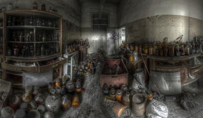 Fototapete - abandoned store-room