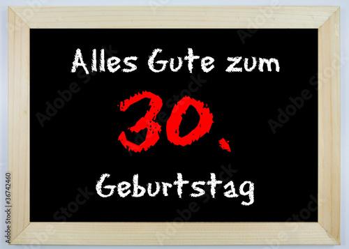 Schild Alles Gute Zum 30 Geburtstag Stock Photo And Royalty Free