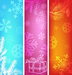 abstract christmas banners set.