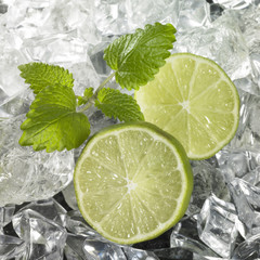 Ice with Lime Wedges