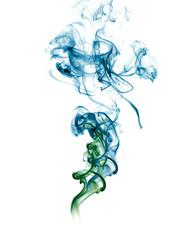 Abstract blue green Smoke
