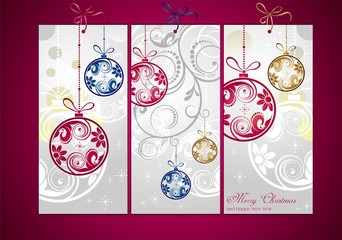 Christmas cards decorated
